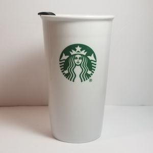 STARBUCKS CERAMIC  INSULATED COFFEE TEA TUMBLER